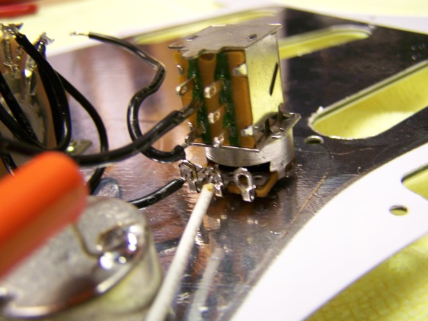 Step 6 - Soldering in the 7 Way Push / Pull
